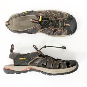 Keen Brown and Tan Water Sandal Sneakers, 8.5